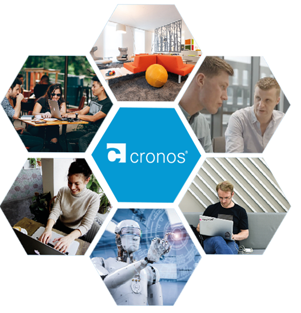 Hexagon Bilder cronos Bot Laptop IT Berater Job Bewerben Werkstudent